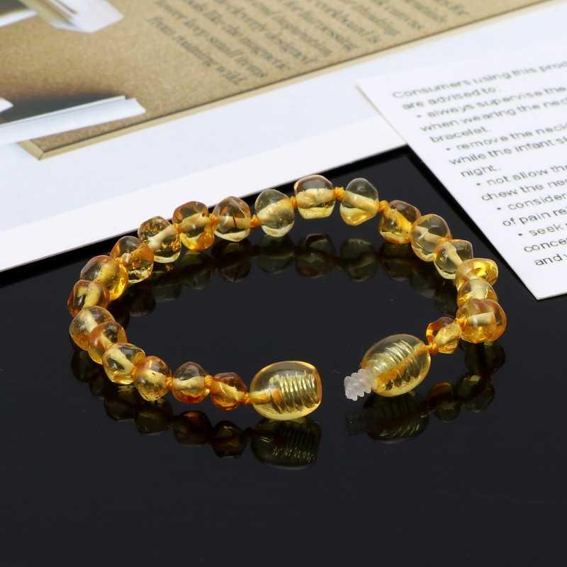 2018 Bayi Asli Baltic Amber Gelang Baku dan Gelang Kaki Bayi Manik-manik untuk Teethers Ayuguo-Bayi A11_32