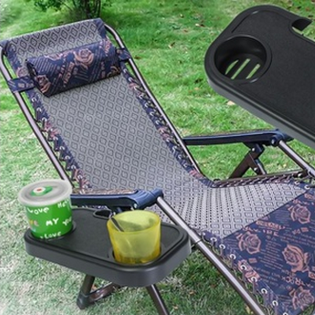 Portable Folding Camping Picnic Outdoor Beach Garden Chair Side Tray Cup Holder For Drink Convenient Practical High Quality A01
