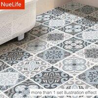 Black And White Tiles Pattern Floor Stickers Bedroom Living Room Kitchen Bathroom Decoration Non Slip Waterproof