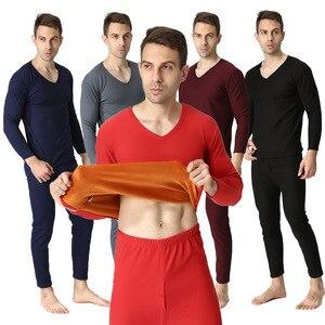 Image 5 - Plus rozmiar XL 9XL 2017 jesienno zimowa mężczyźni zagęścić bielizna termiczna mężczyźni kalesony aksamitne miękkie ciepłe garnitury koszula + spodnie 2 sztuk zestaw