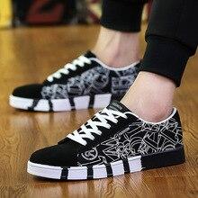 Trend Korean Men Flat Canvas Shoe Ventilation Tourism Shoes Tidal Flow Skateboarding Male Students Sports Travel