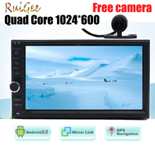 "7"" Car Stereo Camera 2 Din Android 6.0 Bluetooth Autoradio Touch Screen Car non dvd PC Audio Support WiFi/OBD2/USB/SD"