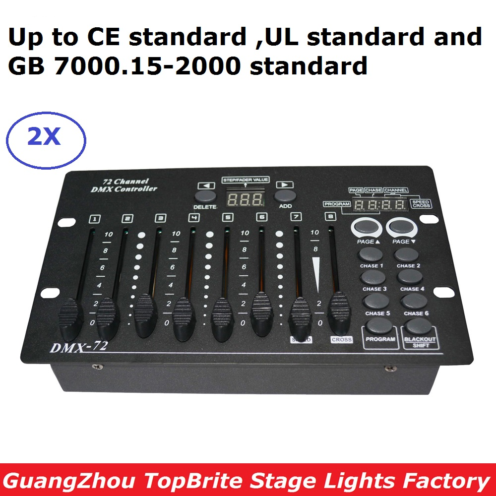 2XLot Carton Package Simple DMX Controller DMX 72 Channels Console Good For DJ Disco KTV Party LED Lights Stage Lighting Effects dmx lpg fire machines controller for flame machine dmx outdoor events for party ktv stage performance special effects