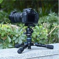 2 in 1 Portable Lightweight Aluminum Camera Tripod Compact Flexible Foldable Desktop Mini Tripod with Ball Head For DSLR Camera