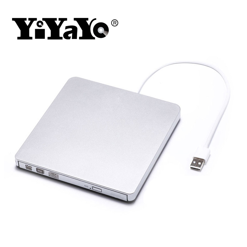 YiYaYo External DVD-RW Drive Burner USB 2.0 External VCD/CD/DVD Player Optical Drive Reader Recorder Slim Portable for Laptop ket for schools direct workbook with answers