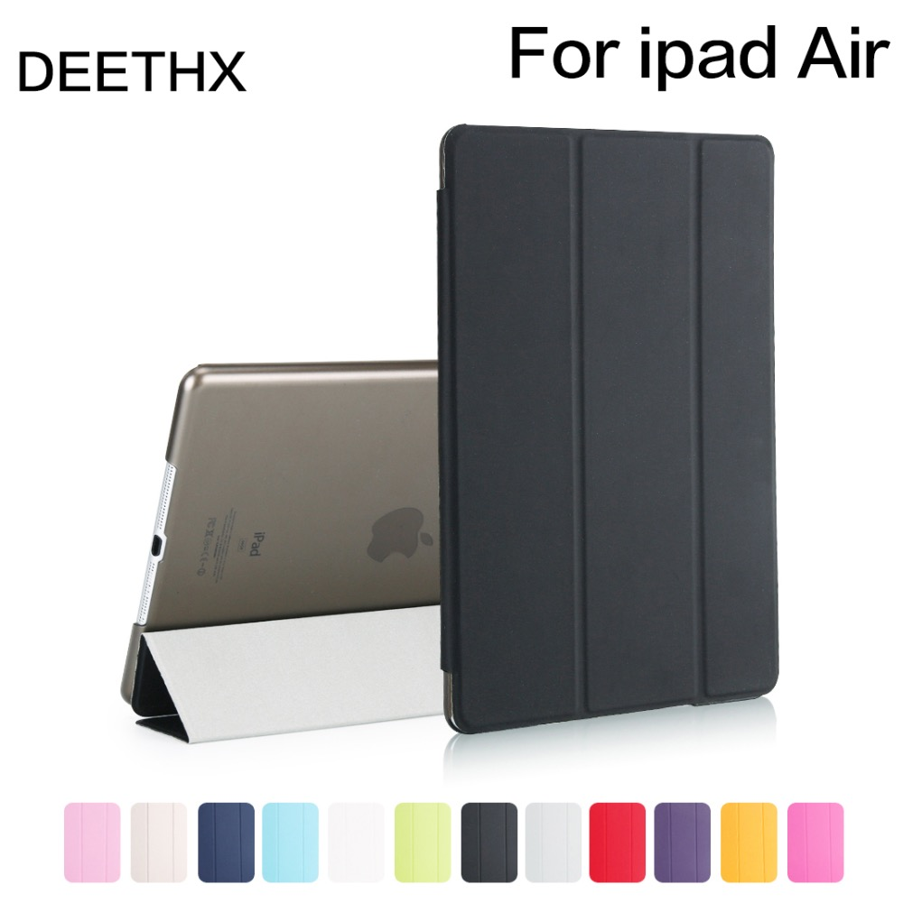 Hot sale Case For ipad Air 2013 Release model A1474 A1475 A1476,PU Ultra Slim Magnet wake Smart Cover shell for iPad case Air for ipad air case silicone soft back slim pu leather smart cover for apple ipad air 1 case tri fold stand a1474 a1475 a1476