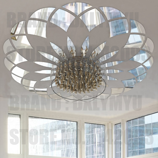 Mirror Sticker Modern Circle Pattern Acrylic Wall Stickers Ceiling Decor Living Room Bedroom Decoration Decals