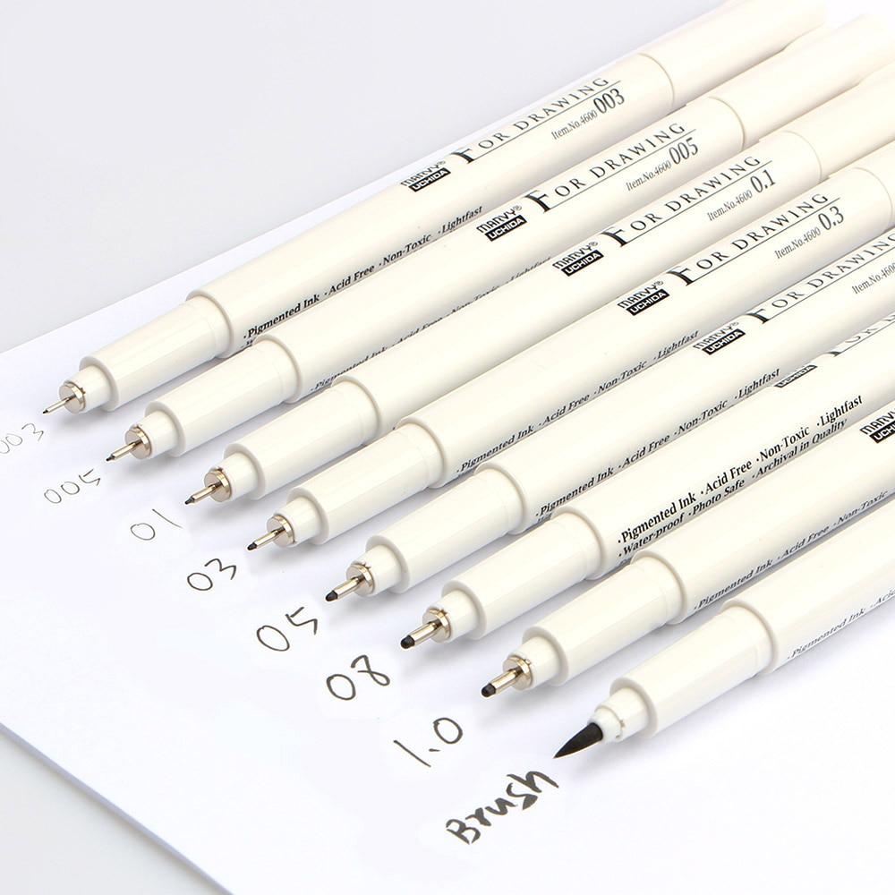 8pcs/Lot Marvy Multi Needle Drawing Micron Cartoon Marker ... |Fine Point Marker Drawings