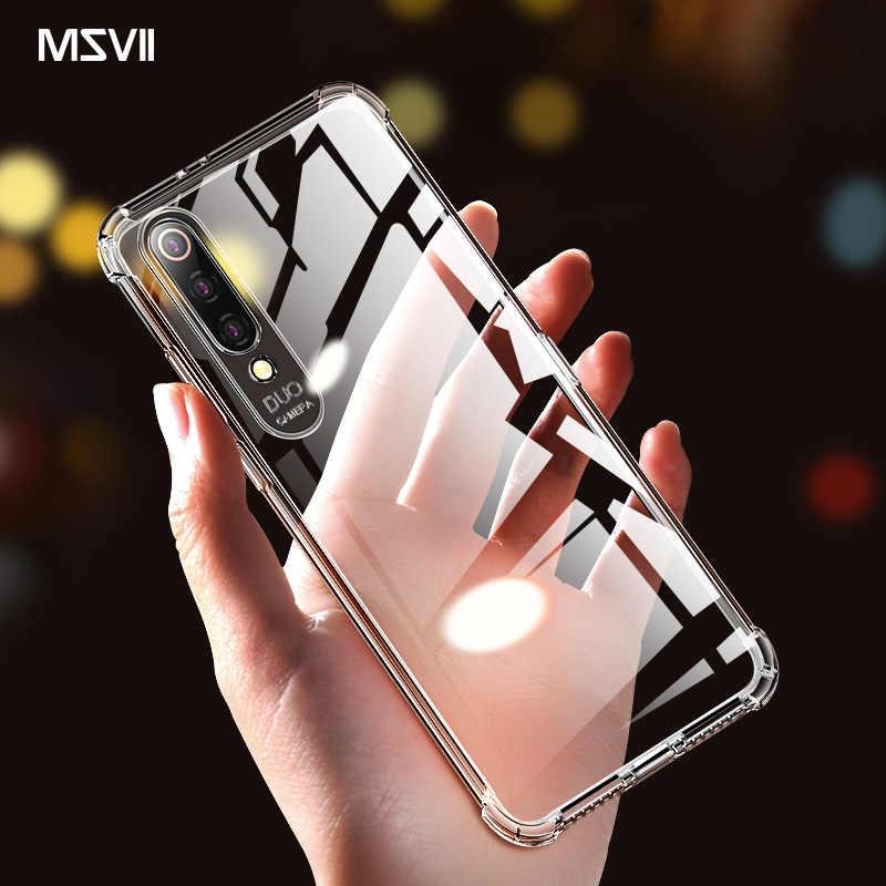 Msvii Funda transparente para Xiaomi Mi9 Funda silicona Mi9 Se Capa Redmi Note 7 Coque TPU claro y suave Funda para Redmi 7 Funda