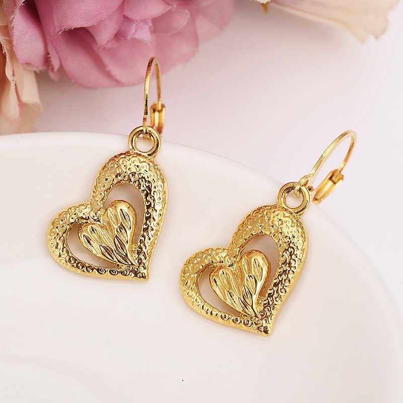 gold love drop earring Ethiopian/Nigeria/Kenya /Ghana  Gold color Dubai african Arab Middle Eastern Jewelry Mom Gifts