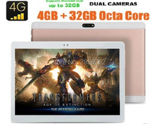 Android 6.0 10 pulgadas tablet Octa Core 4 GB RAM 64 GB ROM 4G LTE FDD 1920×1200 IPS 8.0MP Dual SIM GPS de la Tableta 10.1 Del Ordenador Portátil de DHL envío