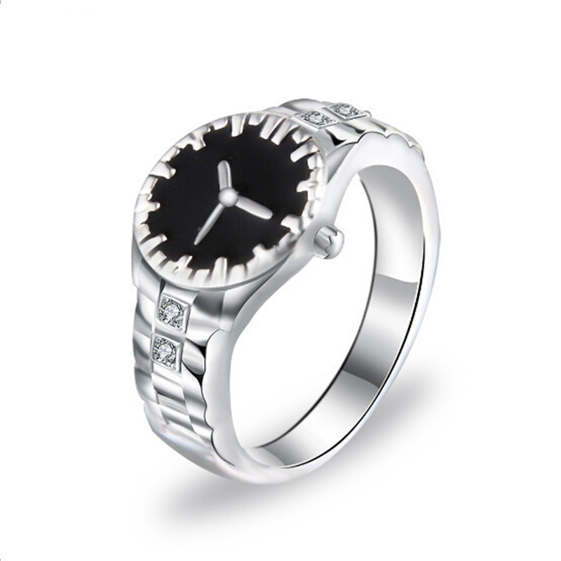 Vintage Clock Time Rings Charms Ring With Crystal Fashion Silver Color Rings For Women Special Design Jewelry Gifts Wholesale Engagement Rings Aliexpress