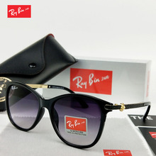 Ray Bin Sun Ladies Sunglasses 2018 Luxury Classic Women Fashion Brand Designer Alloy Legs Points D1714
