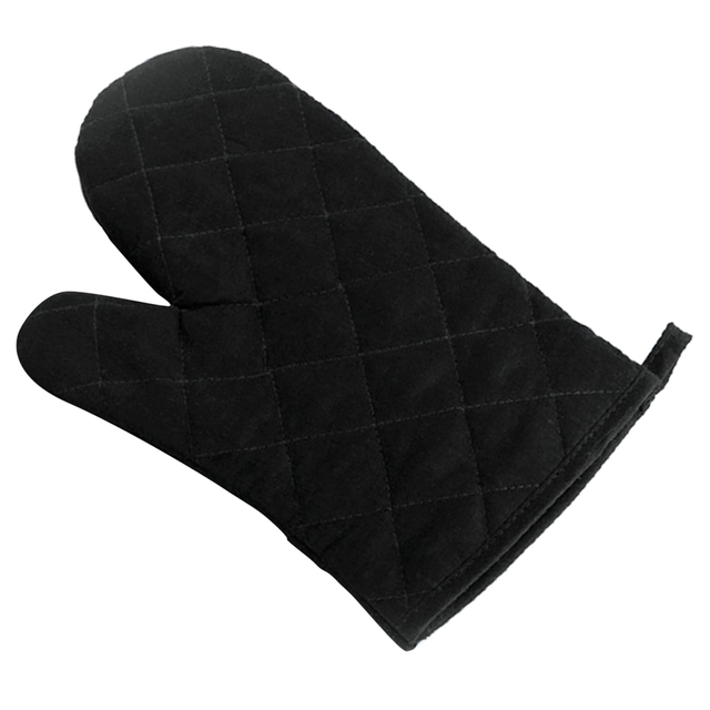 Kitchen Gloves Ss Equipments 1pcs Cotton Protection Glove Heat Resistant Oven Microwave Black