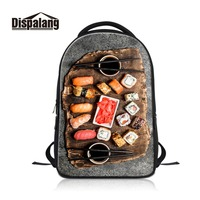 Women Personalized Laptop Backpack Sushi 3D Printed for College Boy Adult Travel Book bag Stylish Computer Bag for Teenagers