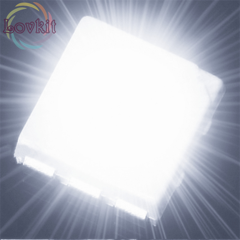100pcs PLCC-6 5050 White SMD LED 3-CHIPS Ultra Bright Light Emitting Diodes SMD/SMT Chip Lamp Beads For Automotive Boat Bike DIY