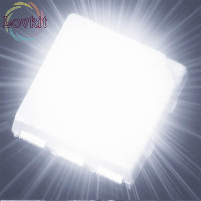 100pcs PLCC-6 5050 White SMD LED 3-CHIPS Ultra Bright Light Emitting Diodes SMD/SMT Chip Lamp Beads For Automotive Boat Bike DIY