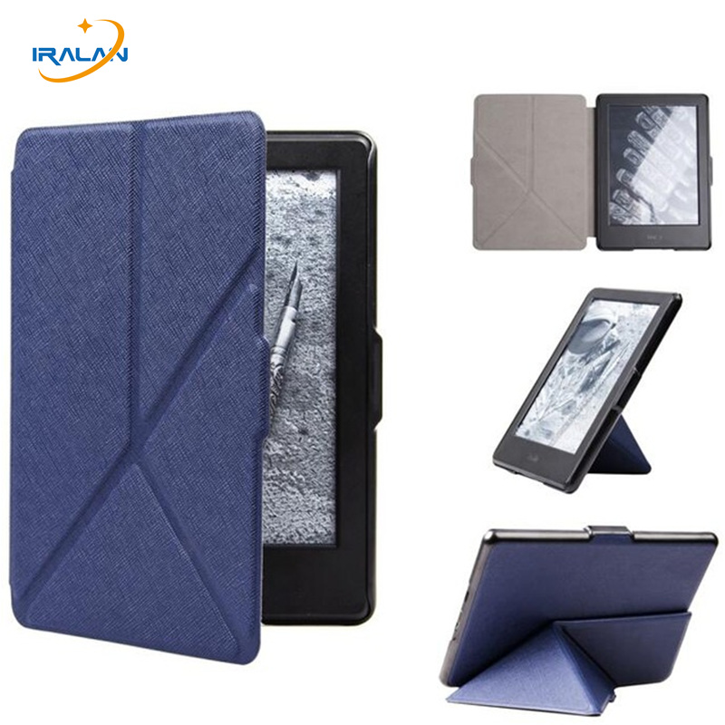 New PU Leather Transformer Cover For Amazon Kindle Paperwhite 1 2 3 eReader Flip case for 2013 2015 2016 6 E-book +film + pen irfi4321 to 220f