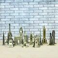 Металл 3D Всемирно Известный Архитектурный Бронзовый Ремесла Модель Здания дома декор Эйфелева Башня/Статуя свободы/Empire State здание