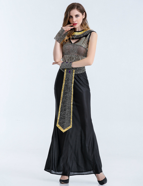 MOONIGHT Halloween Costumes Ancient Egyptian Cleopatra Queen Costume Cosplay Clothing For Women Fancy Dress Costume Outfits