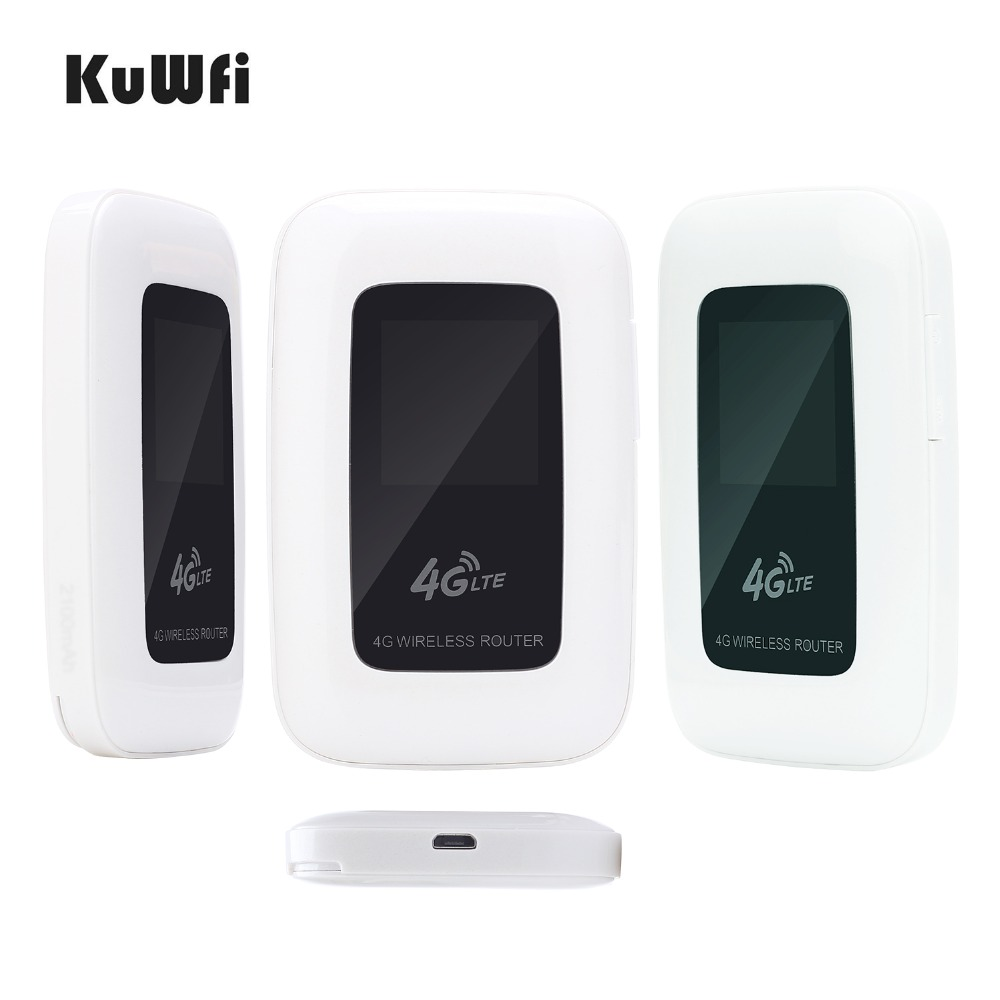 Image 4 - KuWfi 4G LTE Wifi Router Portable 150Mbps WIFI Mobile Hotspot 4G Travel Router Car Router&Modem With SIM Card slot-in 3G/4G Routers from Computer & Office
