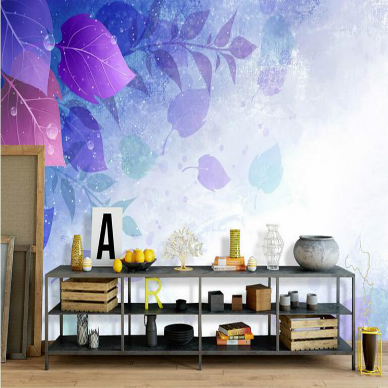 3D wallpaper for walls 3d wallpaper murals Customization backgrounds Non Woven silk for living room Dream leaves floral hand blue earth cosmic sky zenith living room ceiling murals 3d wallpaper the living room bedroom study paper 3d wallpaper