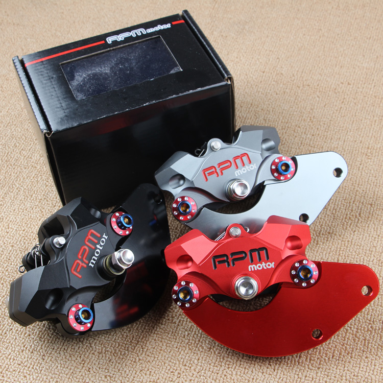 Motorcycle Rpmmotor P2*34mm Brake Caliper And 84mm/45mm Adapter One Set For 220mm Disc For Honda Yamaha Kawasaki Suzuki Modify keoghs real adelin 260mm floating brake disc high quality for yamaha scooter cygnus modify