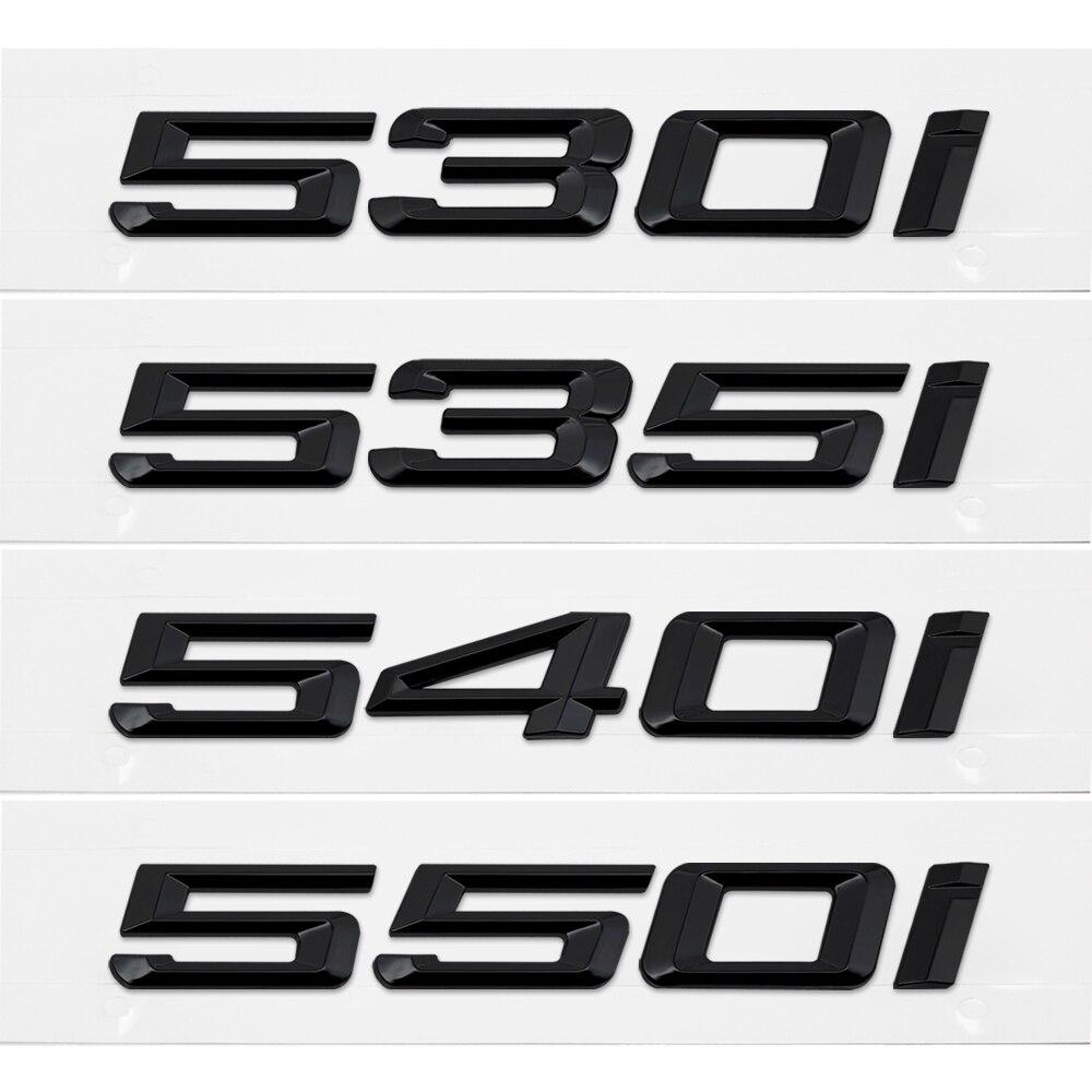 Tampa Da mala Traseira Emblemas Emblema Letras Pretas 530I 535I 540I 550I Logo Para BMW Série 5 F13 F12 F25 F16 x1 X3 X5 M5 Acessórios Do Carro