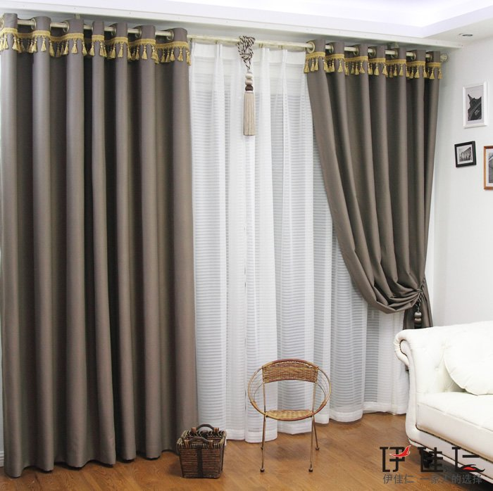 20 Best Curtain Ideas For Living Room 2017: YJ495 Luxury Curtain Fabric 100% Blackout Curtain Design