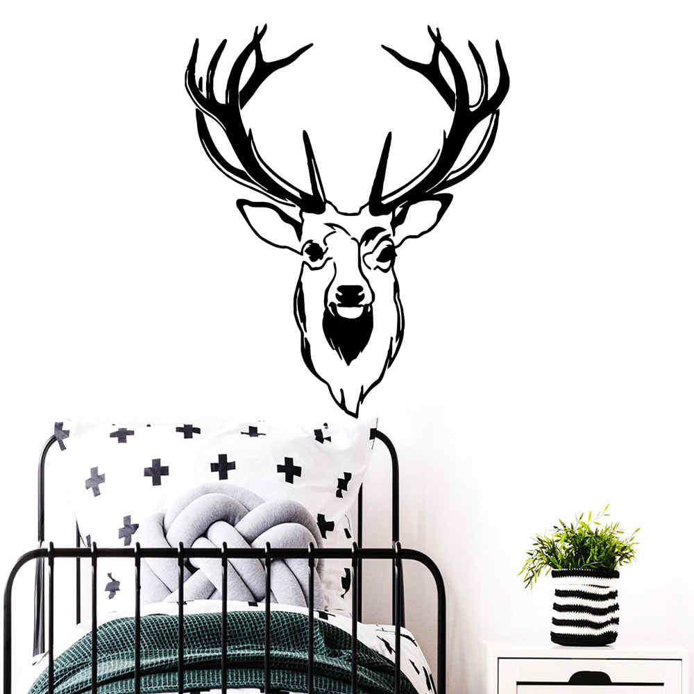 Funny deer Pvc Wall Decals Home Decor For Living Room Bedroom Decoration Accessories
