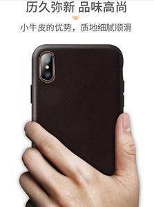 Image 4 - Pour iphone XS XS Max bovin étui en cuir 100% Original Duzhi marque pleine protection en cuir véritable étui pour iphone 7 7 plus 8 8plus