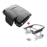 Motorcycle Chopped Tour Pak Pack Trunk Backrest & Mount Rack For Harley Touring Electra Street Glide Road King FLHT FLHX 97 08