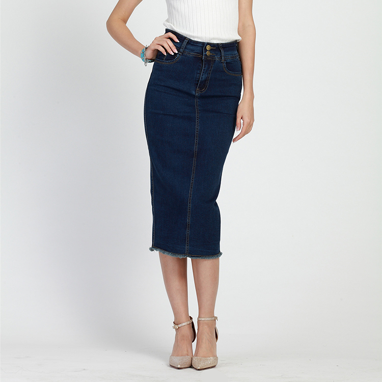 2017 denim skirts womens office work pencil