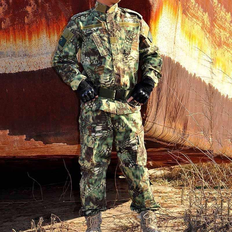 US mundur wojskowy grzechotnik Camo Shooter kurtka mężczyzna Python ziarna taktyczne zestawy mężczyzna kurtka i spodnie