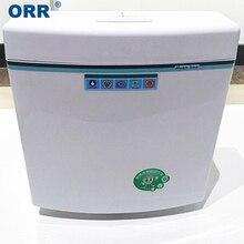 Двойной сливной резервуар для туалетной воды, двойной клик, стильный горшок для ванной, белый аксессуар для ванны, ORR