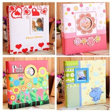 6 inch Baby Albums Cartoon Photo Album Birthday Christmas Gift It Can Contain 120 fotos Hearts/ Flowers/ Hippo Design