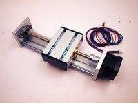 A Funssor Zสไลด์แกนรถไฟชุดที่มีNEMA17 s tepper motor 100-300มิลลิเมตรจังหวะที่มีประสิทธิภาพTR8สกรูนำสำหรับCNC R Eprap