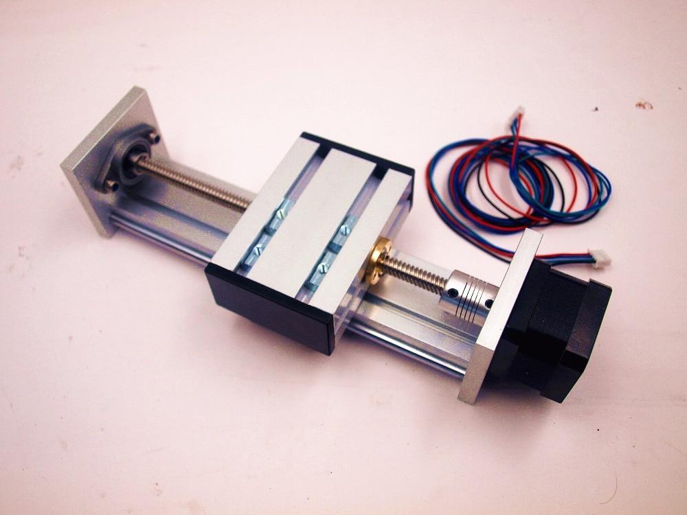 Funssor Z axis Slide rail kit with NEMA17 stepper motor 100-300mm effective stroke TR8 lead screw for CNC Reprap 3D printer 3d printer parts reprap ultimaker z motor with trapezoidal lead srew tr 8 8 p2 free shipping