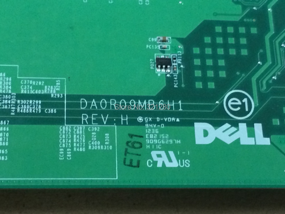 NEW !!! 01040N DA0R09MB6H1 REV : H Free shipping Warranty 90 days Laptop Motherboard for Dell Inspiron 5720 Notebook Mainboard