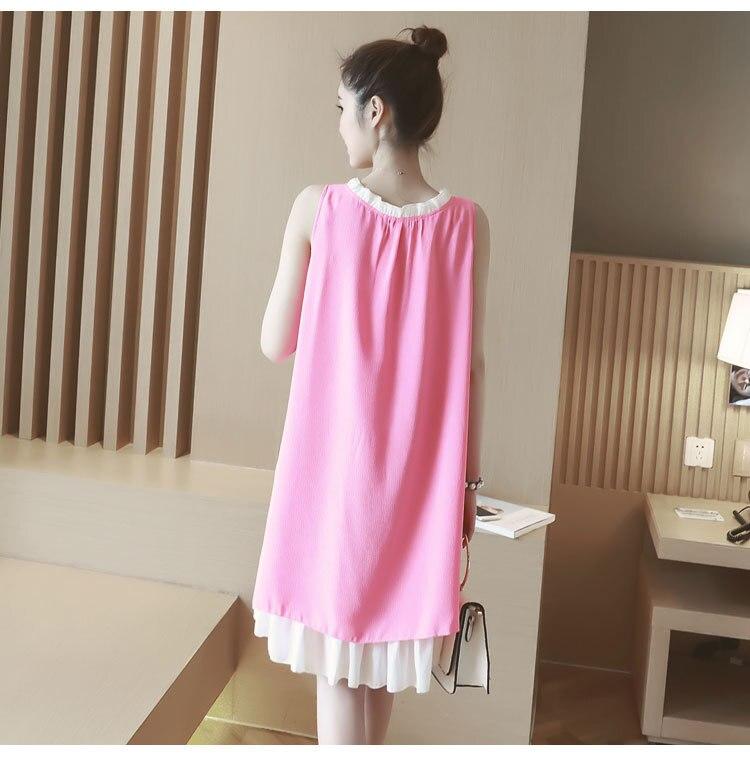 2016 summer maternity dress chiffon sleeveless clothes for pregnant women vest loose long Pregnancy dress Vestido Amarelo