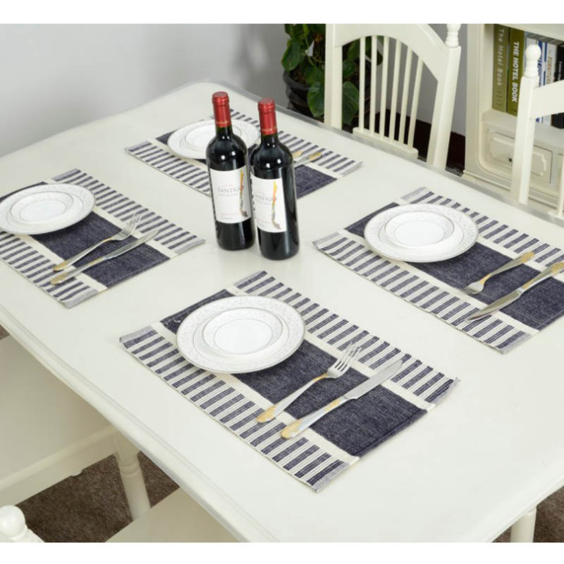 4 Pcslot 3045cm Square Placemats Dining Tables Mats Pvc Place Pad Tableware