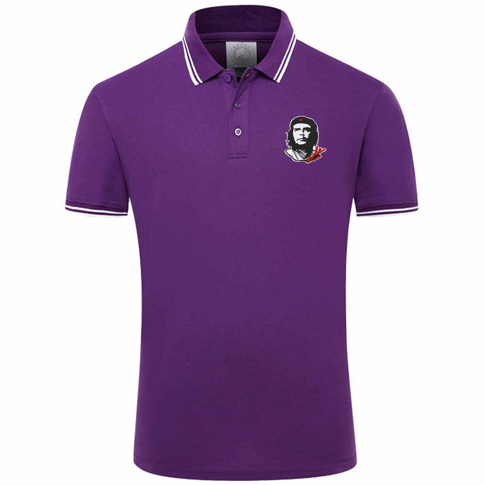 Camiseta para hombre de 13 colores, estilo Simple, Color sólido, Che Guevara, bordado de algodón, manga corta, jerséis, camisetas casuales, camisetas para hombre