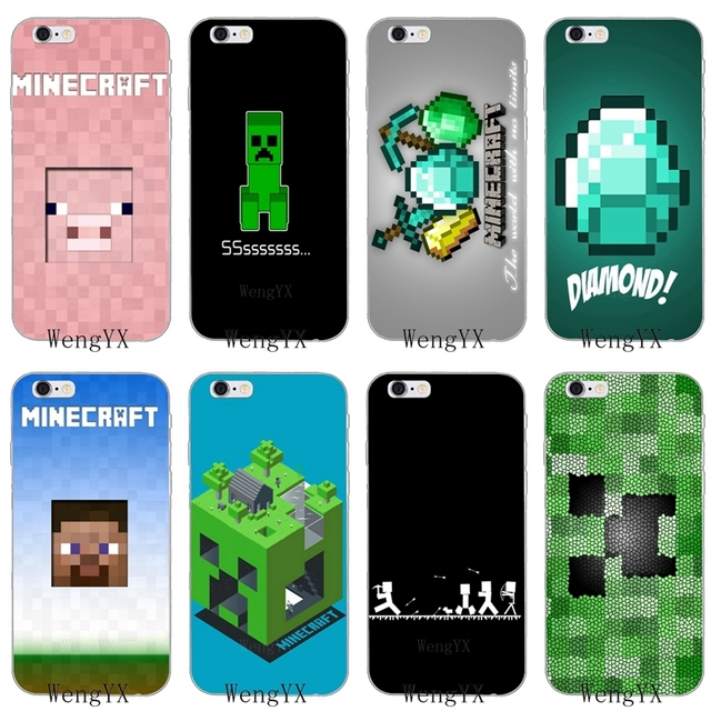finest selection eecfa a7a0e US $1.99 |Mojang minecraft steve creeper Slim silicone Soft phone case For  Samsung Galaxy S3 S4 S5 S6 S7 edge S8 S9 Plus mini Note 3 4 8-in ...