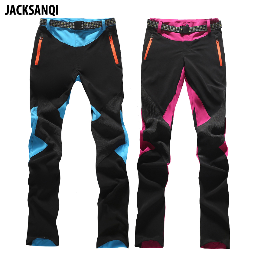 JACKSANQI Summer Women's Quick Dry Pants Hiking Sports Outdoor Trousers Water Repellent Trekking Climbing Female Pants RA097