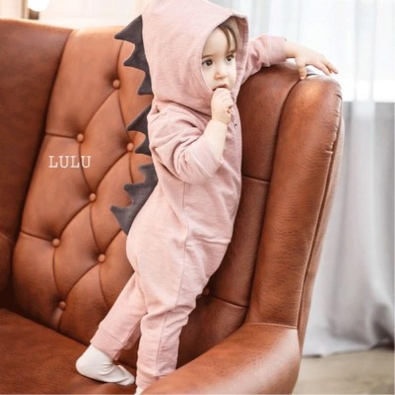 Cute Dinosaur Baby Jumpsuit 2017 Winter Newborn Boy Girl Romper Baby Zipper Outerwear Cartoon Infant Clothing Crawling Jumpsuit baby dinosaur romper