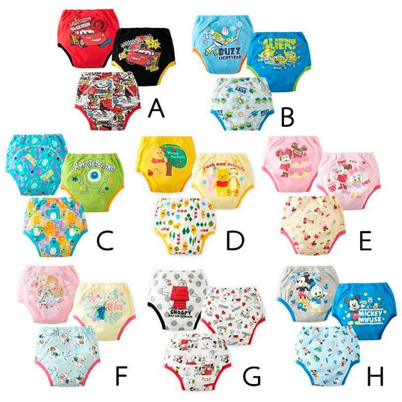 9 pcs Reusable Bayi Pelatihan Celana Bayi Tahan Air Celana Balita Potty Underwear Newborn Boy Gadis Popok Berenang Celana