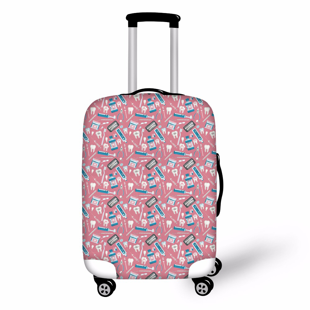 Noisydesigns Dentist Pattern Travel Luggage Cover Fashion Trolley Suitcase Protect Dust Bag Case Travel Accessories Supplies