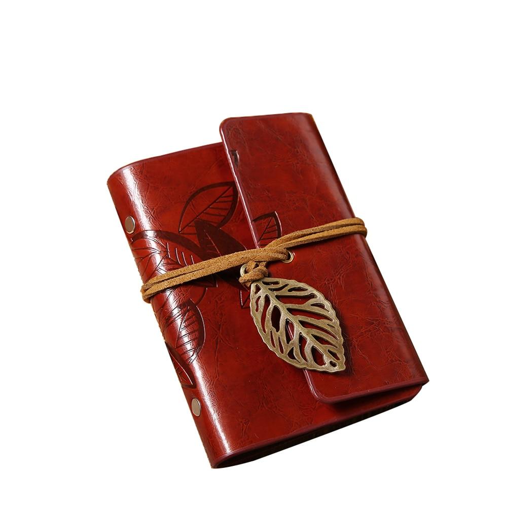 Leaf Design Imitation Leather Card Protector Bag Card Pack Holder(Reddish Brown)