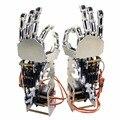 5DOF Humanóide Cinco Dedos De Metal Braço Manipulador Esquerda Mão Direita com GS9018 Servos para Robot DIY