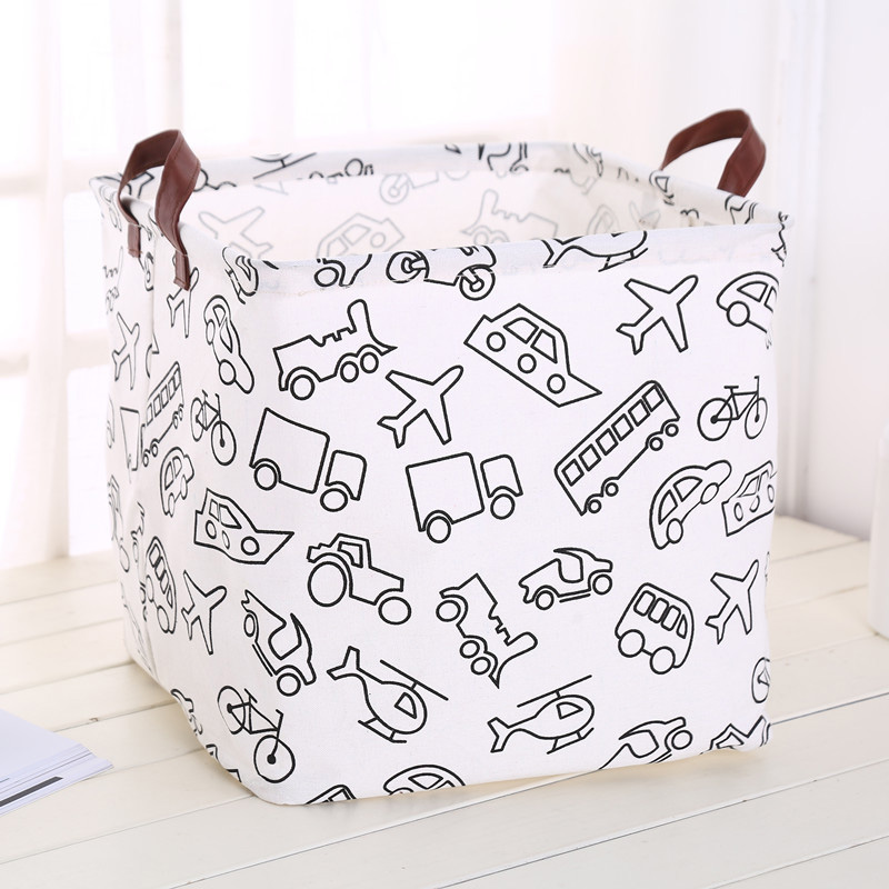 Image 4 - Foldable organizer Storage Basket Folding For Cotton Linen Art Nordic Wind Large Toy Storage Box Barrel organizador-in Foldable Storage Bags from Home & Garden